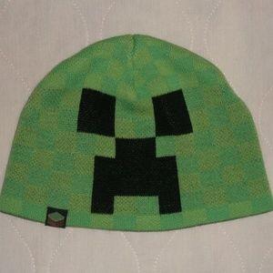 Minecraft Green Creeper Knit Beanie Hat